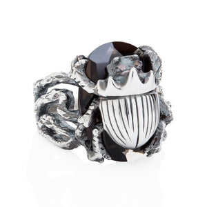 Little Scarab Cocktail Ring - Joy Everley Fine Jewellers, London