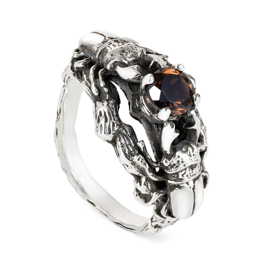 Little Stag Beetle Cocktail Ring - Joy Everley Fine Jewellers, London