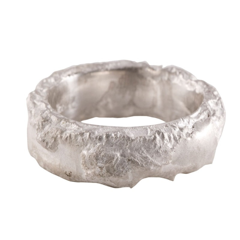 Sterling Silver Mens Rough Ring