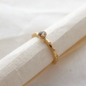 Sustainable Baroque Diamond Engagement Ring by Joy Everley