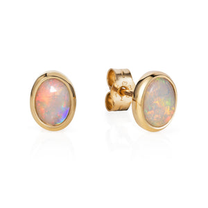 Opal Ear Studs - Joy Everley Fine Jewellers, London