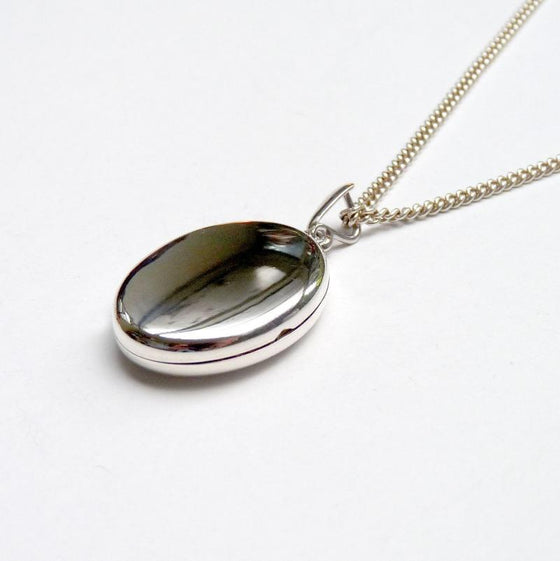 Oval Locket & Chain - Joy Everley Fine Jewellers, London