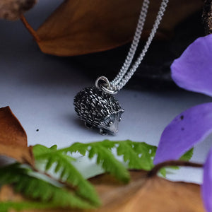 Silver Hedgehog Necklace by Joy Everley