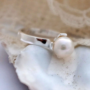 Mermaid's Secret Silver Pearl Ring by Joy Everley