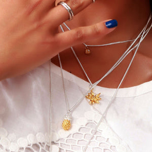 Vermeil Pineapple Necklace - Joy Everley Fine Jewellers, London