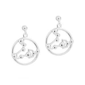 Pisces Astrology Drop Studs - Joy Everley Fine Jewellers, London