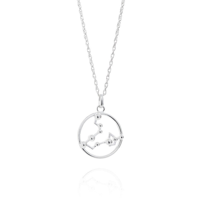 Pisces Astrology Silver Necklace by Yasmin Everley
