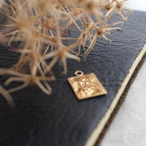 Solid Gold Plain Tag Necklace or Charm by Joy Everley