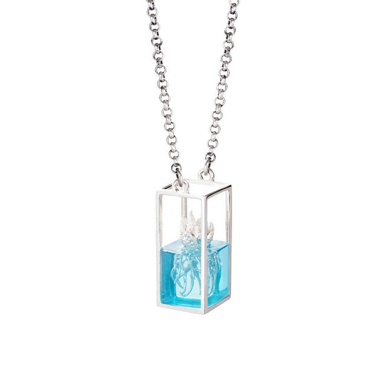 Planter Terrarium Necklace Blue