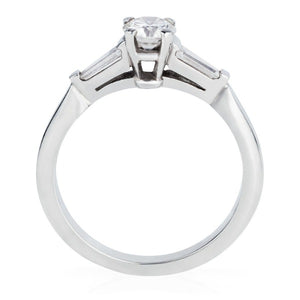 Platinum Trilogy Engagement Ring - Joy Everley Fine Jewellers, London