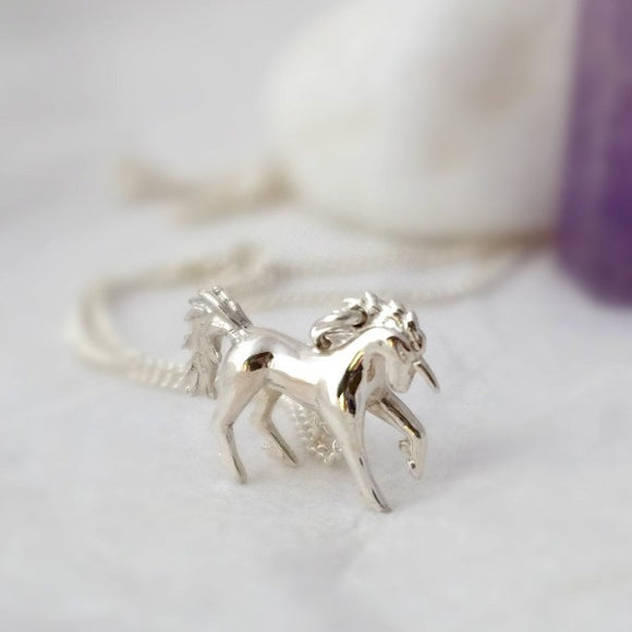 Silver Unicorn Necklace - Joy Everley Fine Jewellers, London