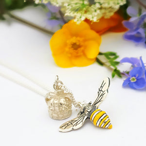 Queen Bee Silver Necklace by Joy Everley