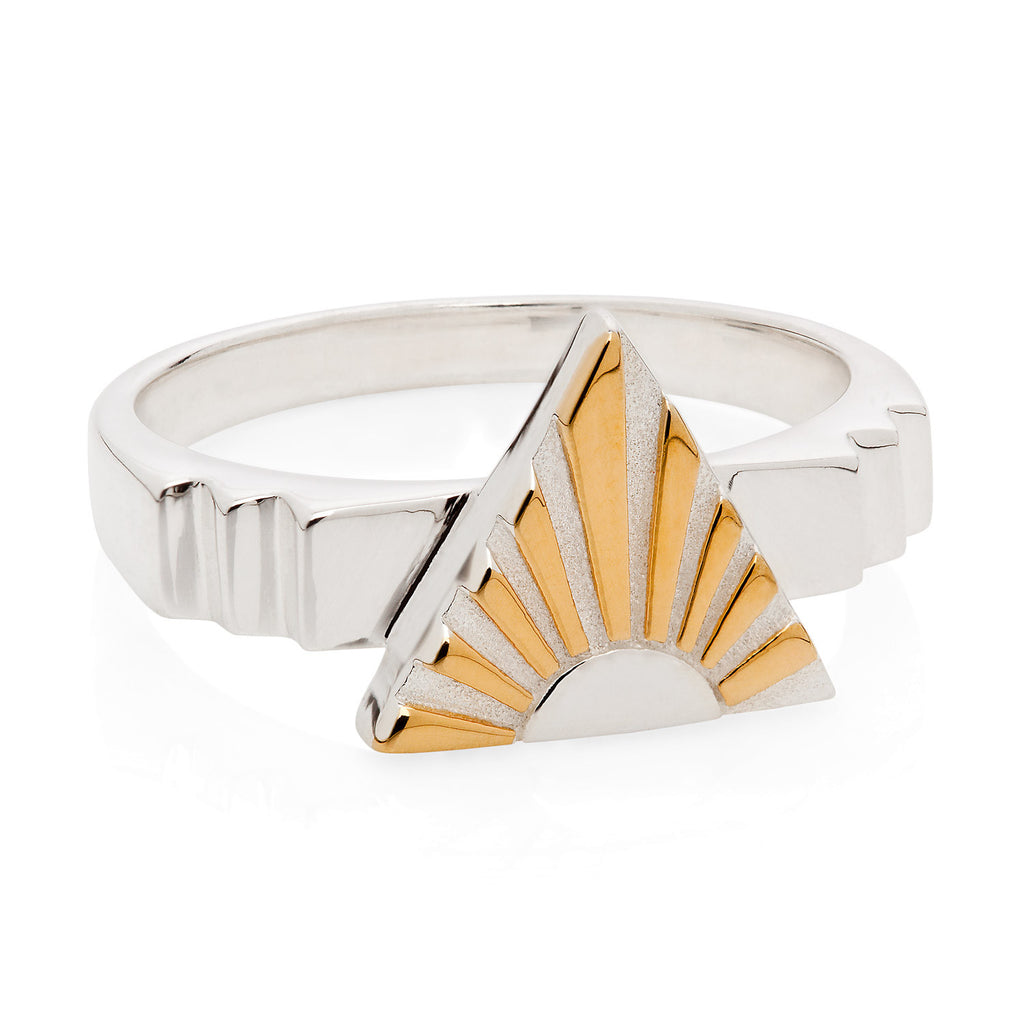 Art Deco Ring Letter A Ring