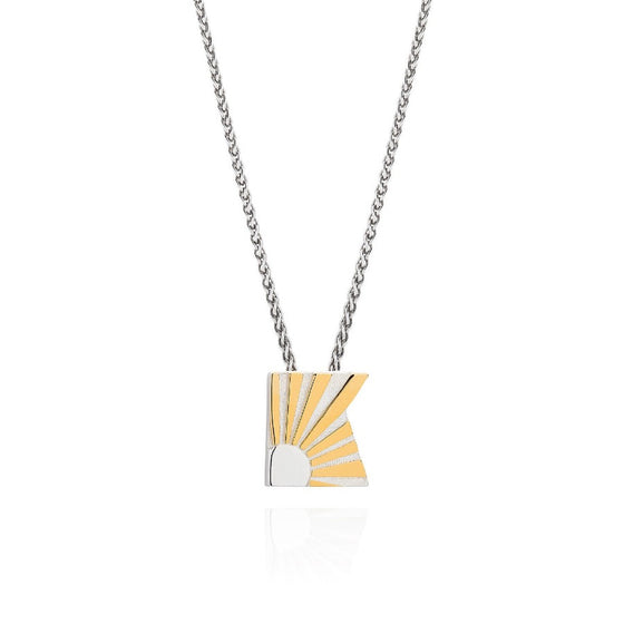 Art Deco Necklace Letter K Necklace