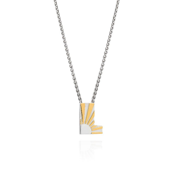 Art Deco Necklace Letter L Necklace