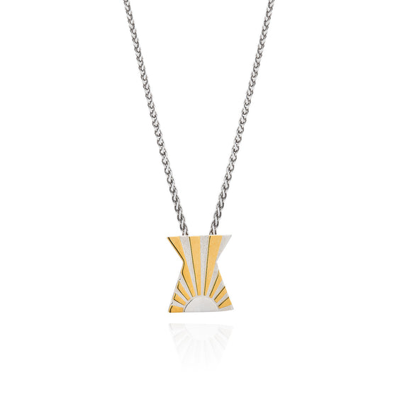 Art Deco Necklace Letter X Necklace