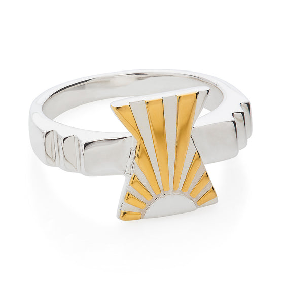 Art Deco Ring Letter X Ring