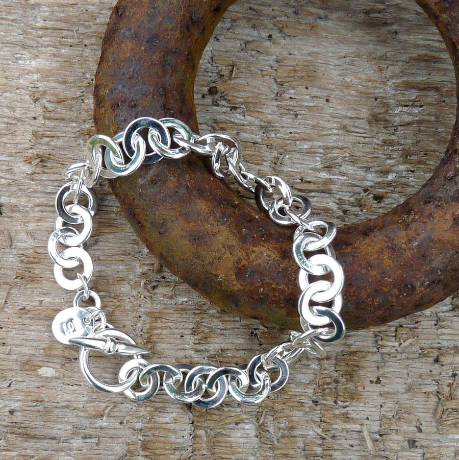 Rings on Rings Silver Bracelet by Joy Everley