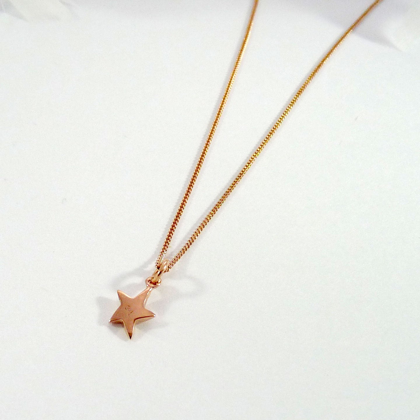 gold tiny bridesmaid necklace pendant filled star swarovski crystal pin