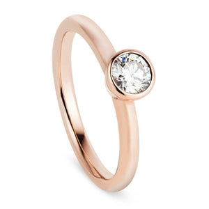 Rose Gold & Diamond Stacking Ring - Joy Everley Fine Jewellers, London