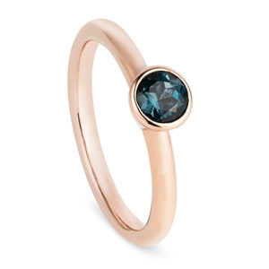 Rose Gold & London Topaz Stacking Ring - Joy Everley Fine Jewellers, London