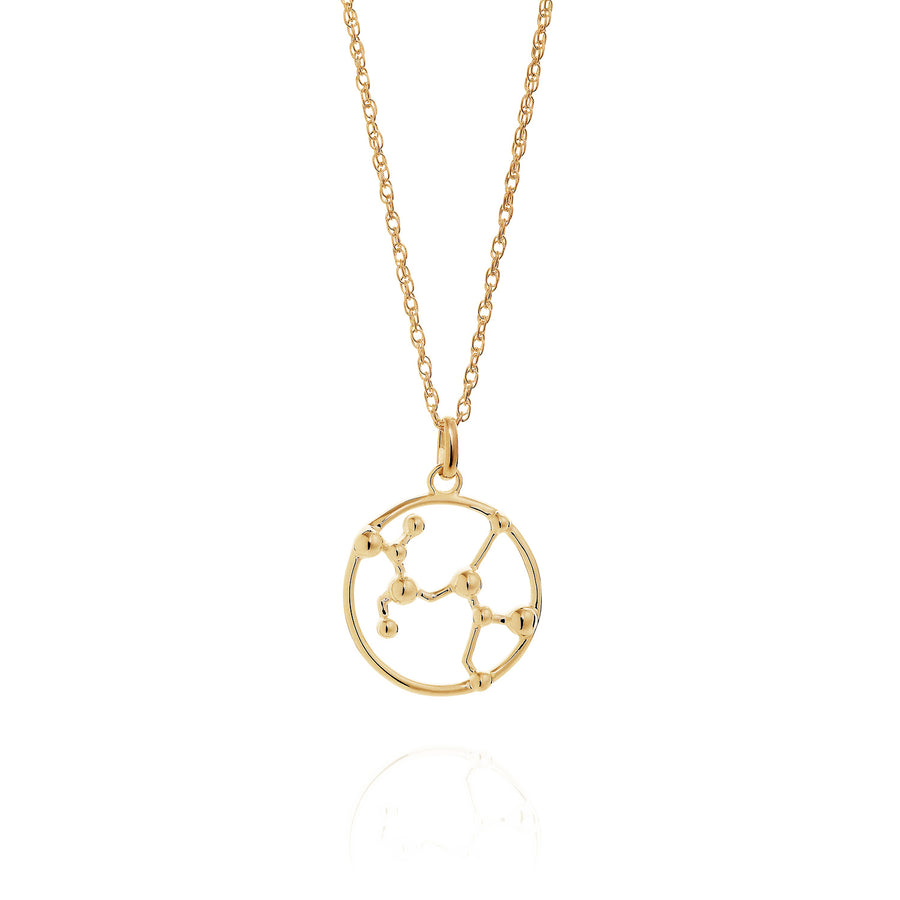 Solid Gold Sagittarius Astrology Necklace by Yasmin Everley