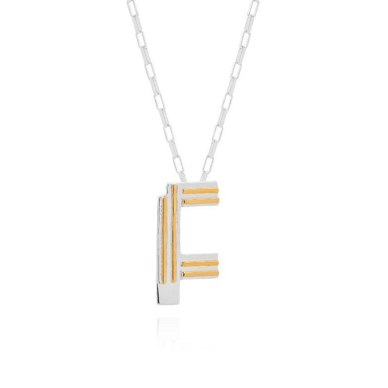 Saxony F Initial Necklace