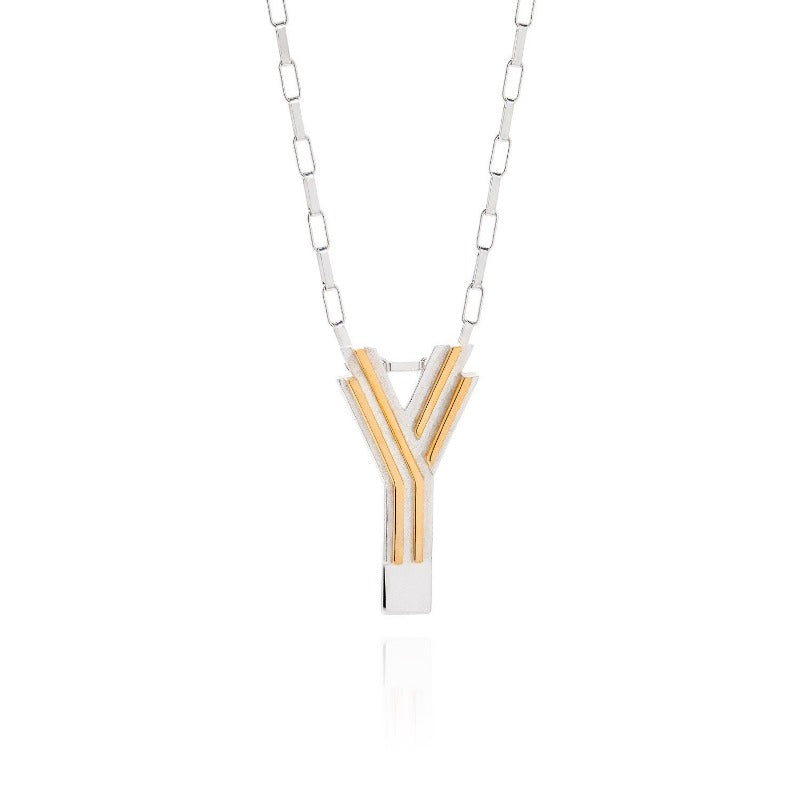 Art Deco Necklace Letter Y Necklace