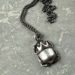 Scarab Beetle Necklace - Joy Everley Fine Jewellers, London