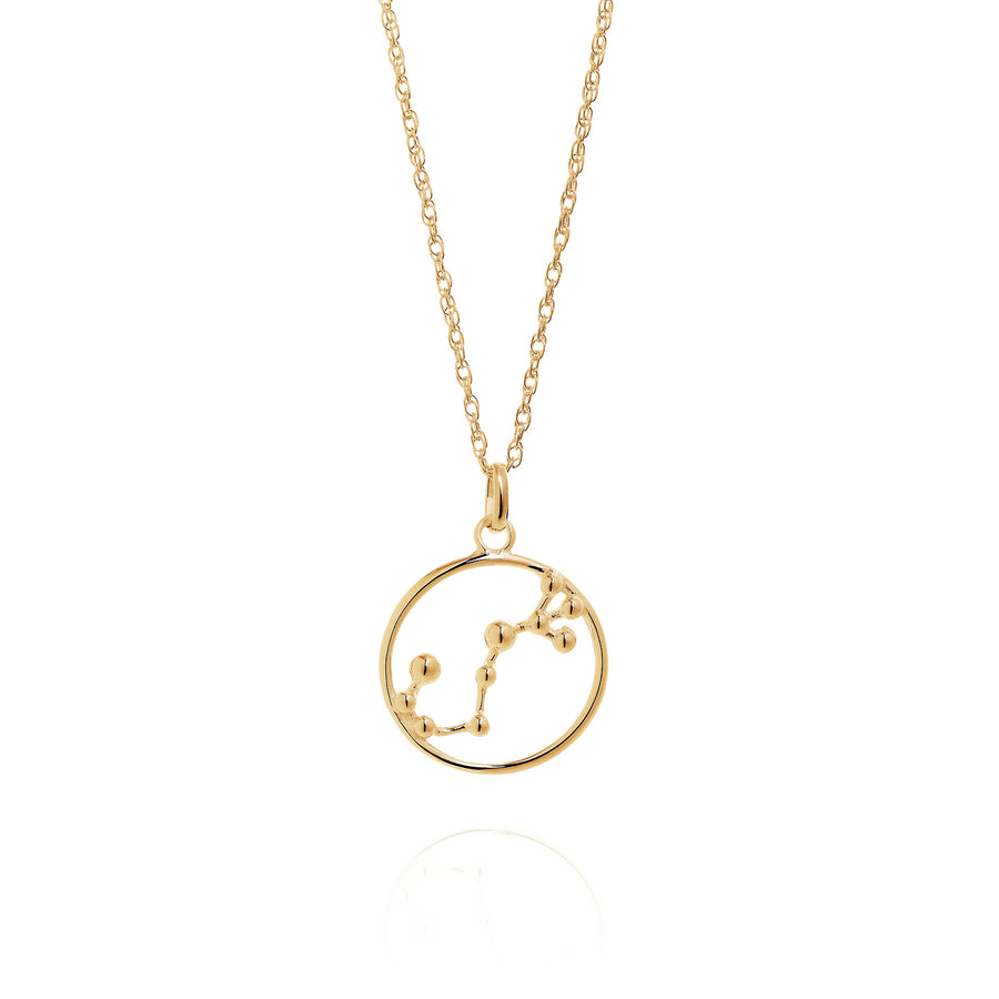 Solid Gold Scorpio Astrology Necklace by Yasmin Everley