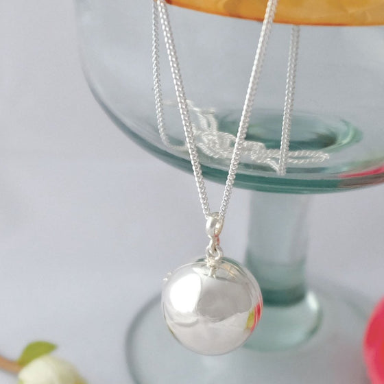Memory Sphere Locket Necklace - Joy Everley Fine Jewellers, London