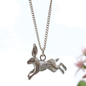 Leaping Hare Necklace - Joy Everley Fine Jewellers, London