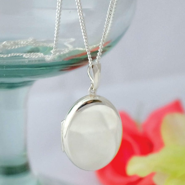 Large Oval Locket Necklace