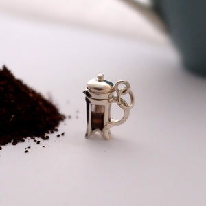 Silver Cafetiere Charm - Joy Everley Fine Jewellers, London