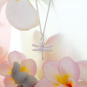 Little Dragonfly Necklace - Joy Everley Fine Jewellers, London