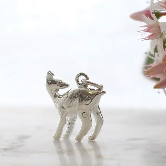 Silver Fawn Charm - Joy Everley Fine Jewellers, London