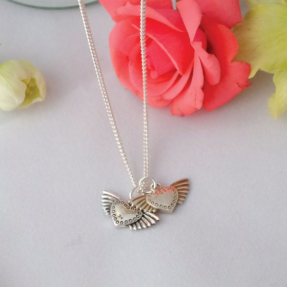 Fluttering Hearts Necklace