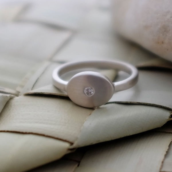 Pebble and Diamond Ring - Joy Everley Fine Jewellers, London
