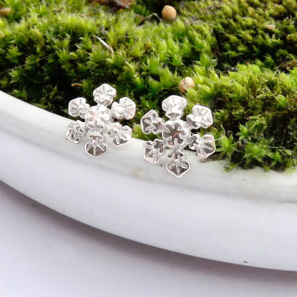 Snowflake Ear Studs - Joy Everley Fine Jewellers, London