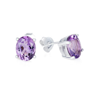 Amethyst Cocktail Studs