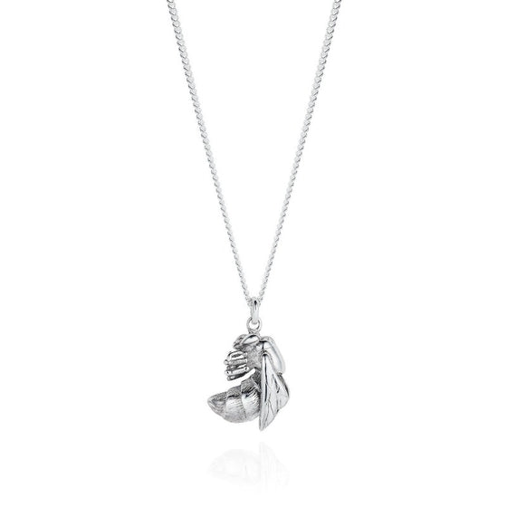 Large Silver Bee Necklace - Joy Everley Fine Jewellers, London
