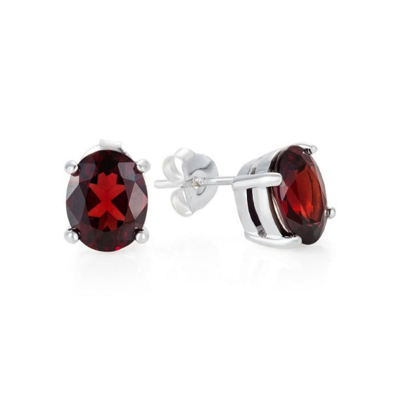 Silver and Garnet Cocktail Studs