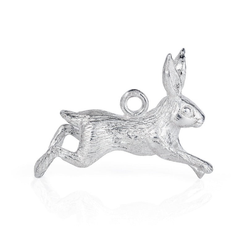 Leaping Hare Silver Charm by Joy Everley