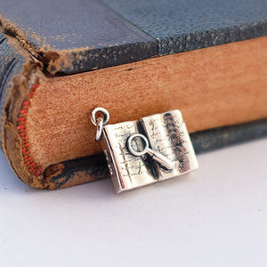 Old Book Silver Charm by Joy Everley