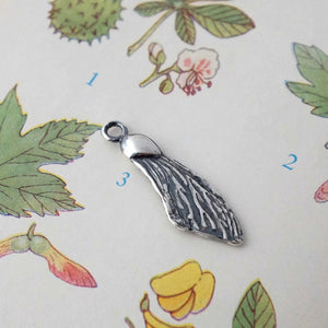 Sycamore Wing Silver Charm by Joy Everley