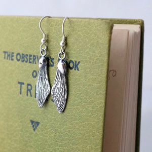 Sycamore Wing Silver Earrings by Joy Everley