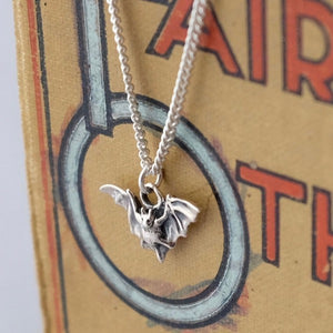 Little Silver Bat Necklace by Joy Everley