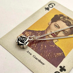 Silver Rose Necklace or Charm by Joy Everley