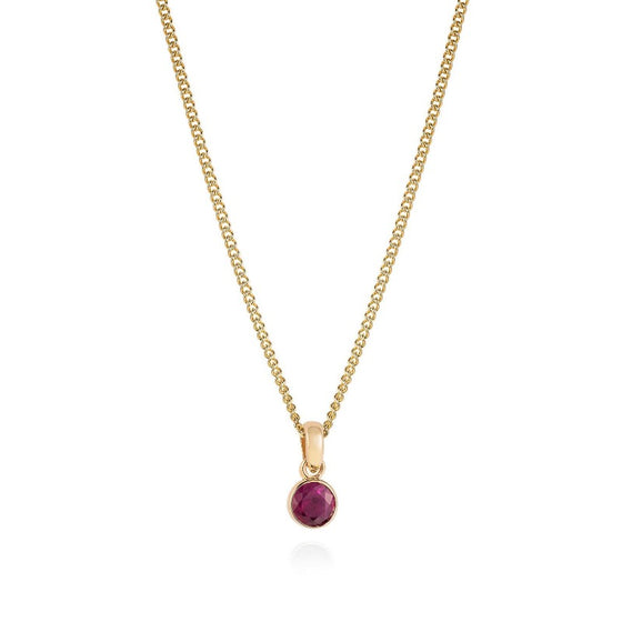 Simple Ruby Necklace - Joy Everley Fine Jewellers, London