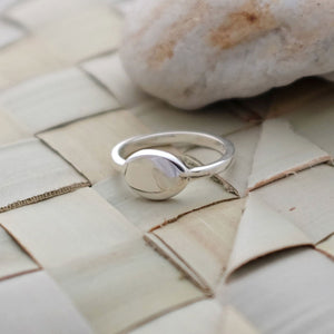 Silver Pebble Ring - Joy Everley Fine Jewellers, London